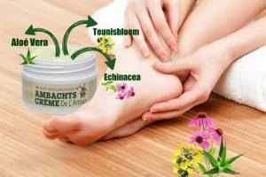 voeten behandelen met Ambachtscrème